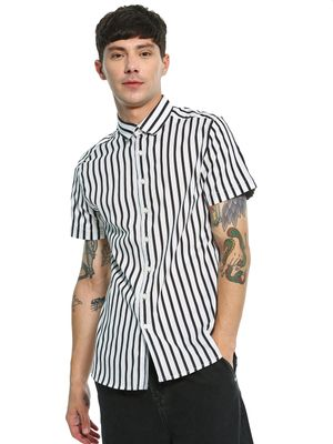 Kenneth Cole Vertical Stripe Print Shirt
