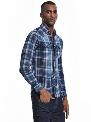Celio Woven Multi-Check Twin Pocket Shirt