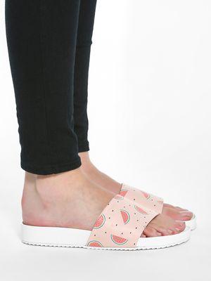 KOOVS Watermelon Print Pool Slides