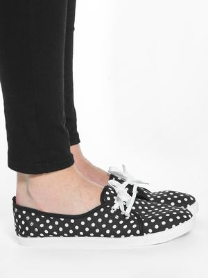KOOVS Polka Dot Print Plimsoll Shoes