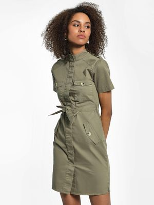 KOOVS Utility Pocket Shirt Dress