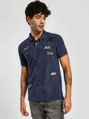 Being Human Embroidered Patch Polo Shirt