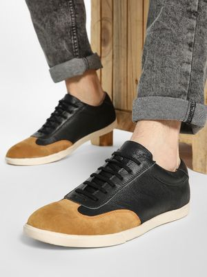YOHO Suede Panel Leather Sneakers