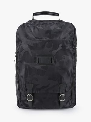 KOOVS Camouflage Twin Buckle Backpack