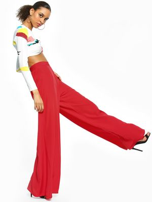 The Gud Look High Waist Wide-Leg Trousers