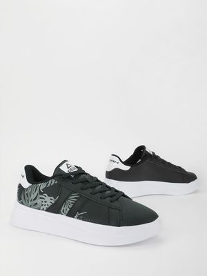 Peak Palm Embroidered Raised Sole Sneakers