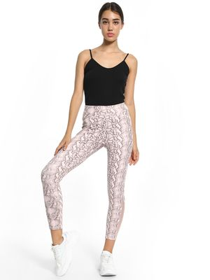 K ACTIVE KOOVS Snakeskin Print Mesh Panel Leggings
