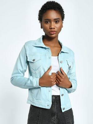 KOOVS K DENIM  Twin Patch Pocket Denim Jacket