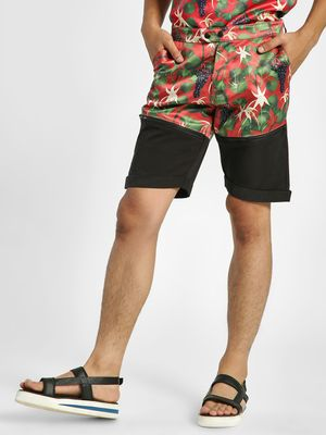Shivan & Narresh X KOOVS Vineyard Print Panelled Shorts