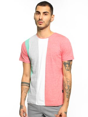 Rigo Cut & Sew Colour Block T-Shirt