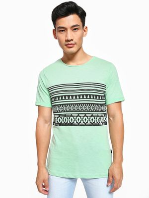 Rigo Tribal Placement Print T-Shirt