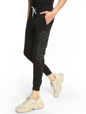 Fighting Fame Leopard Print Panelled Joggers