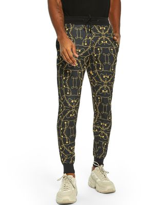 Fighting Fame Baroque Chain Print Joggers