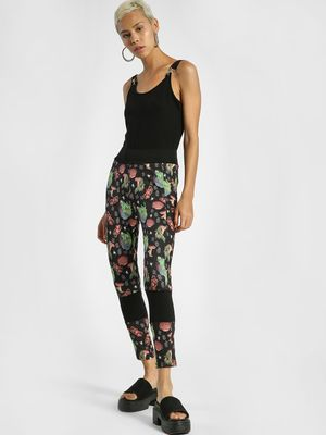 Shivan & Narresh X KOOVS Oriental Floral Print Cropped Leggings