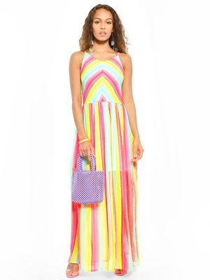 Sbuys Multi Colour Maxi Dress