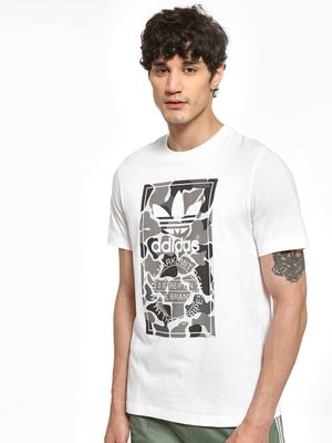 Adidas Originals Camouflage Tongue Label T-Shirt