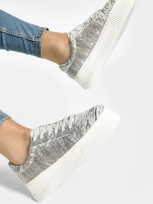 Sole Story All Over Print Flatform Shoes