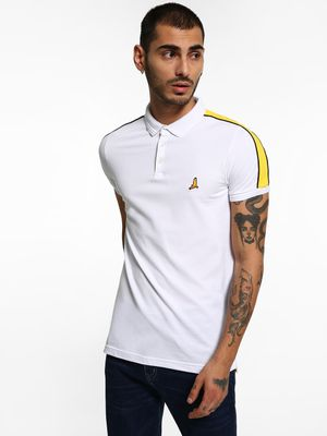 Brave Soul Shoulder Tape Polo Shirt