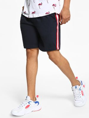 Brave Soul Contrast Side Tape Drawcord Shorts