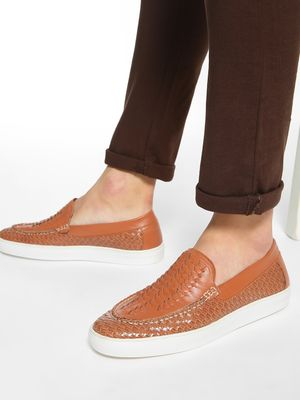 Bolt Of The Good Stuff Handwoven Panelled Loafers