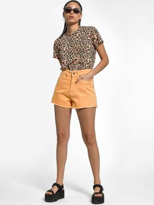 K Denim KOOVS Raw Hem Denim Shorts