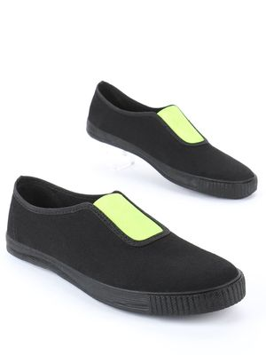 KOOVS Centre Gusset Plimsoll Shoes