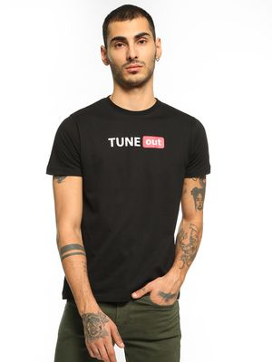 Garcon Tune Out Placement Print T-Shirt