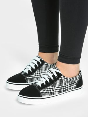 EmmaCloth Double Knit Check Sneakers