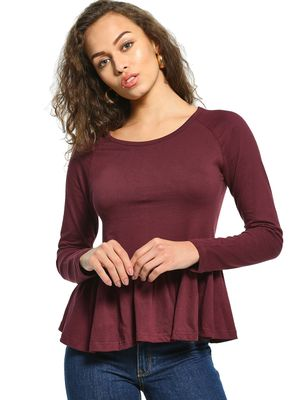 The Dry State Long Sleeve Peplum Blouse