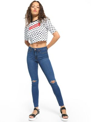 New Look Ripped Knee Skinny Jeans