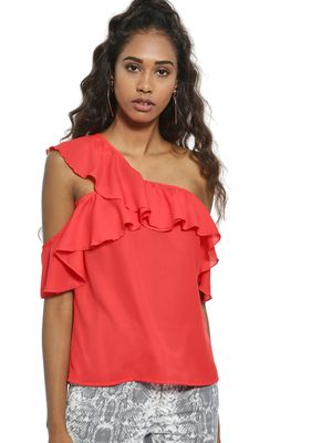 Ri-Dress Ruffle One Shoulder Blouse