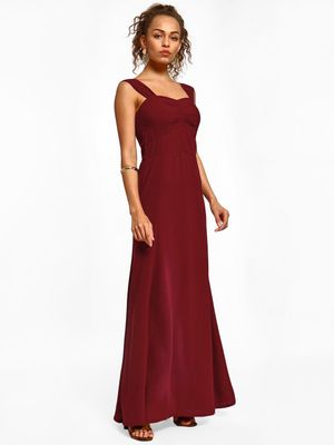 Miaminx Sweetheart Neck Maxi Dress