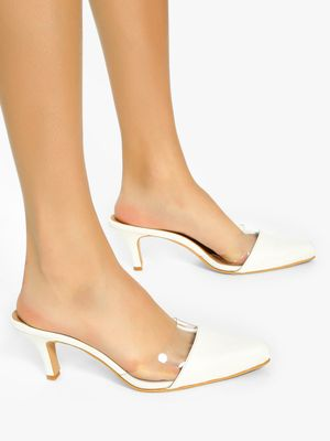 Shoe that fits You Transparent Upper Kitten Heeled Shoes