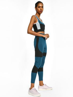 K ACTIVE KOOVS Colour Block Panelled Leggings