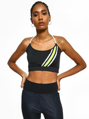 K ACTIVE KOOVS Contrast Stripe Crop Top