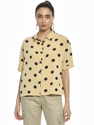 AND Polka Dot Print Shirt