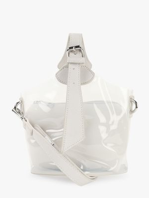 Origami Lily Contrast Handle Clear Sling Bag