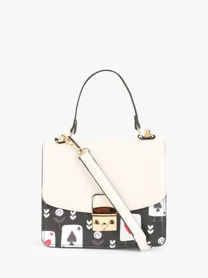 Origami Lily Poker Card Print Sling Bag