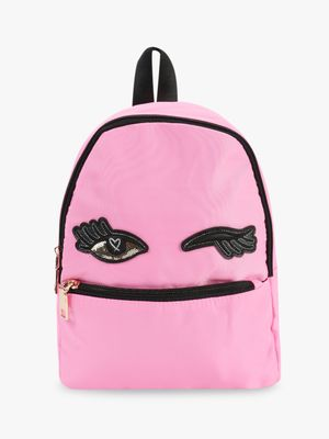 Origami Lily Sequin Wink Eye Patch Backpack
