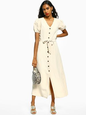 Cover Story Button-Down Tie-Knot Maxi Dresses