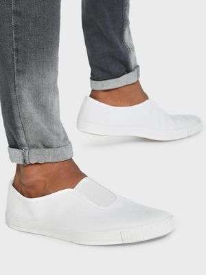 KOOVS Slip-On Gusset Plimsoll Shoes