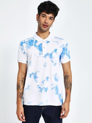 Blotch Cloud Print Polo Shirt
