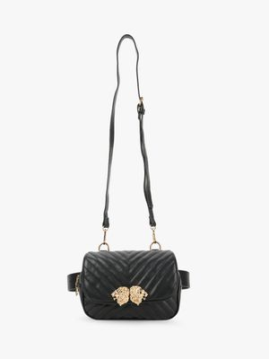 Cover Story Lion Hardware Detail Quilted Sling Bag