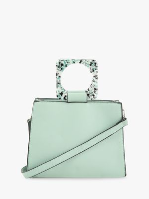 Cover Story Contrast Resin Handle Sling Bag