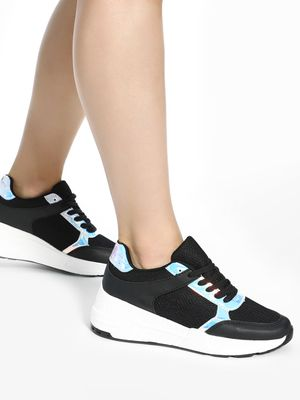 KOOVS Holographic Panel Chunky Sole Trainers