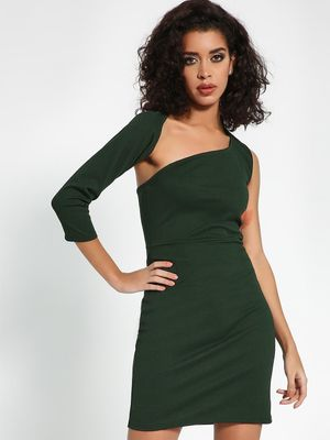 KOOVS Cut-Out One Shoulder Bodycon Dress