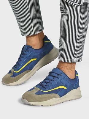 KOOVS Mesh Suede Panel Sneakers