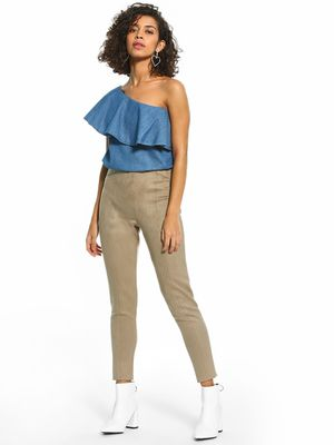 Cover Story Suede Cropped Length Treggings