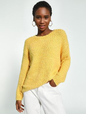 KOOVS Fluffy Knit Longline Jumper