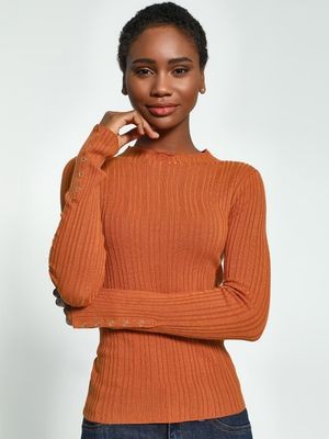 KOOVS Self Stripe Lightweight Pullover
